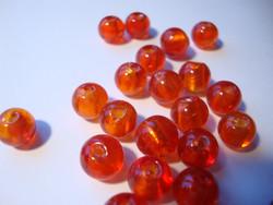 Folio lasihelmi oranssi pyöreä 8 mm (10 kpl/pss)