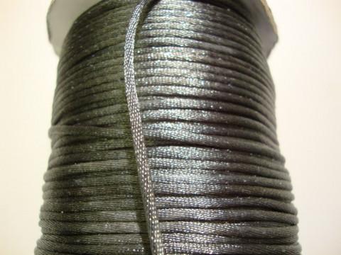 Satiininauha tummanharmaa/tumma hopea 2 mm (m-erä 2 m)
