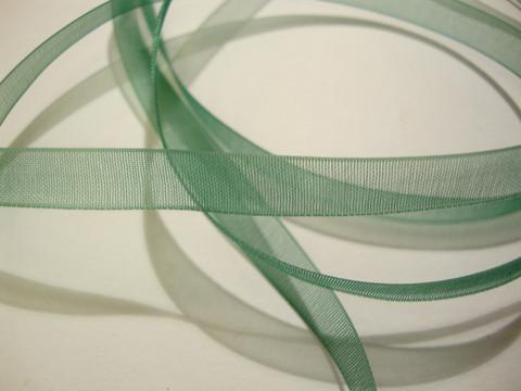 Organzanauha vihreä n. 6 mm leveä (m-erä 2 m)
