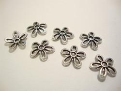 Helmihattu Kukka antiikkipatinoitu hopea 11 mm (m-erä 10 kpl)