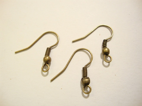 Korvakorukoukku (fish hook) pronssi 21 x 16 mm  (20/pss)