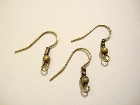 Korvakorukoukku (fish hook) pronssi 21 x 16 mm  (20 kpl/pss)