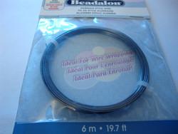 Beadalon hematiitin musta metallilanka, paksuus 20 gauge =0,81 mm (6 m/pakkaus)
