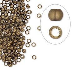 Kiinnityshelmi (puristushelmi) pronssinvärinen 2,5 mm (n. 100 kpl/pss)