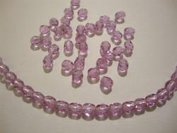 Tsekkiläinen fasettihiottu lasihelmi pyöreä kirkas lila 4 mm (n. 100/nauha)