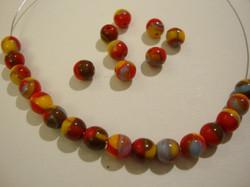 Tsekkiläinen lasihelmi Multicolor-monivärinen 6 mm (50/pss)
