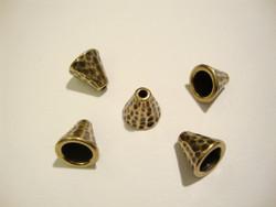 TierraCast Helmihattu (kalotti) pronssi Taottu 8,5 x 8 mm (2/pss)