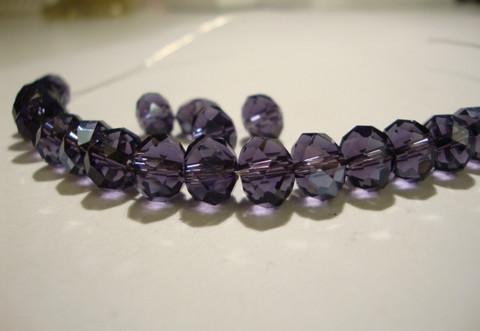 Kristallihelmi violetti rondelli 6 x 4 mm (20/pss)