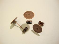 Korvakorutappi  kapussipohjalla kuparinvärinen 10 mm + tausta (10 kpl/pss)