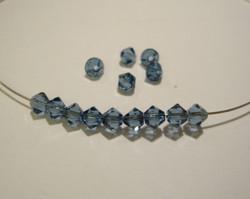 Swarovski kristallihelmi denim sininen bicone 4 mm (5/pss)