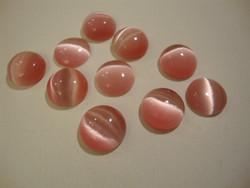 Kapussi vaalean punainen kissansilmälasi puolipyöreä 10 mm (10 kpl/pss)