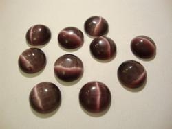 Kapussi violetti kissansilmälasi puolipyöreä 10 mm (10 kpl/pss)