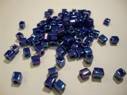 Miyuki siemenhelmi kuutio 3.5-3.7 mm opaakki metalli tumma sini-violetti SB414R (10 g/pss)