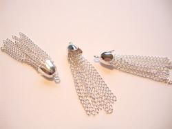 Tasselitupsu metalliketjuista hopeoitu 39 x 8 mm (5 kpl/pss)