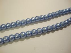 Helmiäislasihelmi vaalea sininen (Baby Blue) 6 mm (n.36/nauha)