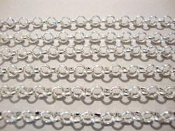 Papuketju hopean värinen +/- 8 mm (m-erä 1 m)