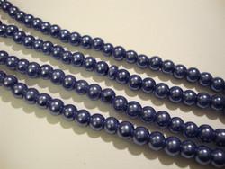 Helmiäislasihelmi tumma kanervan sininen 6 mm (n.36/nauha)