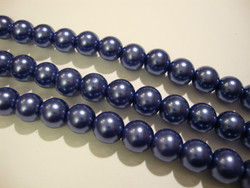 Helmiäislasihelmi tumma kanervan sininen 10 mm (n.20/nauha)