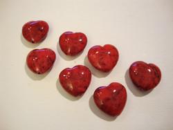 Marmori värjätty punainen sydän 12 mm