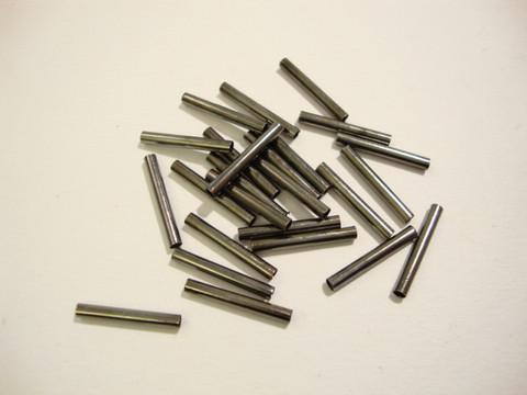 Metallihelmi putki sileä musta 15 x 2 mm (100/pss)