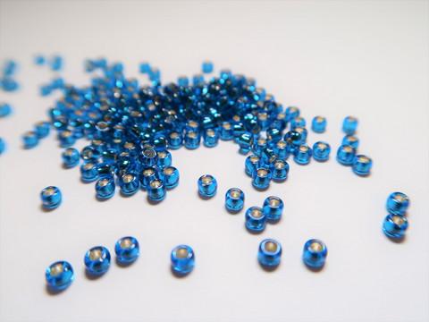Miyuki siemenhelmi Caprin sininen hopeasisus 8/0 3 mm (10 g/pss)