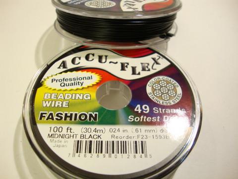 Accu-Flex 49-säikeinen vaijeri musta 0,61 mm (myyntierä 1 m)