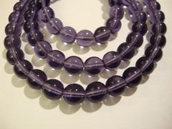 Tsekkiläinen lasihelmi violetti /lila pyöreä 8 mm (20 kpl/pss)