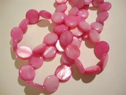 Simpukkahelmi pinkki / fuksian punainen kolikko 10 mm (n. 36/nauha)