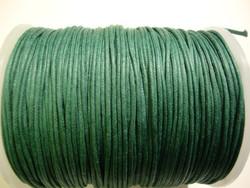 Puuvillanauha vahattu tummanvihreä 1 mm (me 1 m)