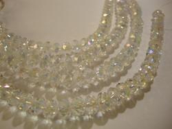 Kristallihelmi kirkas AB rondelli 5 x 8 mm (20/pss)