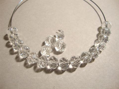 Kristallihelmi kirkas rondelli 4 x 6 mm (20/pss)