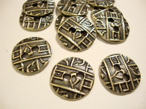 TierraCast Metallinappi pyöreä kolikko pronssi 18 mm