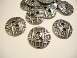 TierraCast Metallinappi pyöreä kolikko hopeoitu 18 mm