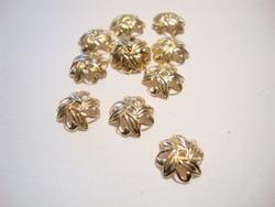 Helmihattu lehtikuvio kullattu 10 mm (10 kpl/pss)