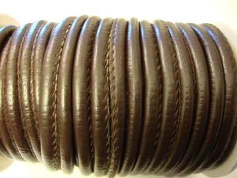 Nappajäljitelmänauha tummanruskea pyöreä 4 mm (m-erä 50 cm)