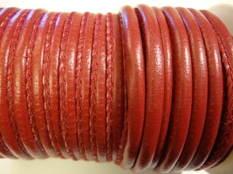 Nappajäljitelmänauha tummanpunainen pyöreä 4 mm (m-erä 50 cm)