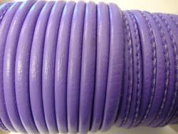 Nappajäljitelmänauha lila/violetti pyöreä 4 mm (m-erä 50 cm)
