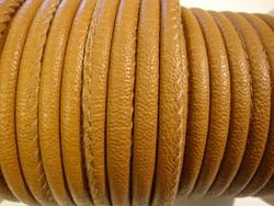 Nappajäljitelmänauha vaaleanruskea pyöreä 4 mm (m-erä 50 cm)