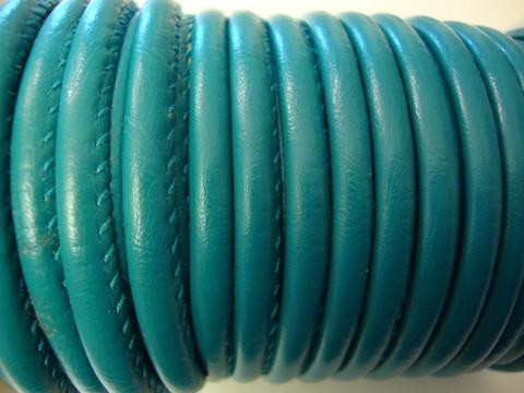 Nappajäljitelmänauha turkoosinvihreä pyöreä 4 mm (m-erä 50 cm)