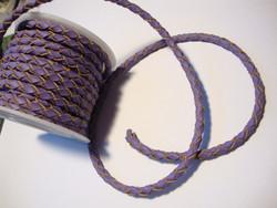 Nahkanauha punottu lila/violetti  pyöreä 4 mm (m-erä 1 m)