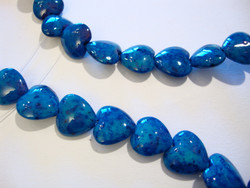 Marmori värjätty sininen sydän 12 mm