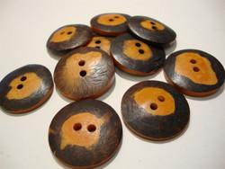 Luunappi oranssi / tumma pyöreä 25 mm