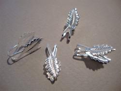 Riipuspidike taitettu Lehtikuvio hopeoitu 18 x 6 mm (4 kpl/pss)