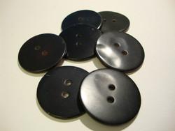 Helmiäisnappi luonnon musta pyöreä 30 mm