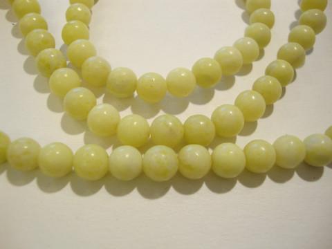Kivihelmi Mustard stone limen vihreä pyöreä 6 mm (30 kpl/pss)