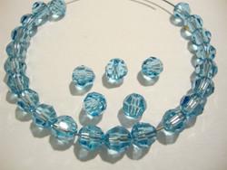 Swarovski kristallihelmi akvamariinin sininen pyöreä 6 mm (4/pss)