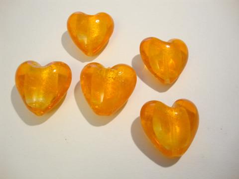 Lamppuhelmi oranssi / folio sydän 28 mm