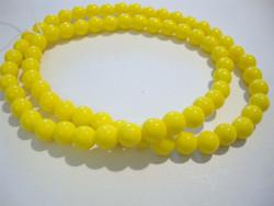 Tsekkiläinen lasihelmi keltainen opaakki pyöreä 6 mm (20/pss)