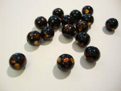 Lamppuhelmi musta / folio oranssi ja kulta 10 mm (2/pss)