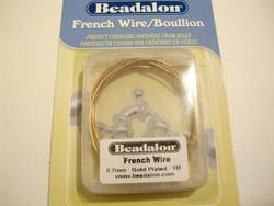 Beadalon koruspiraali eli French Wire kullattu, sisämitta 0,7 mm (1 m/pakk.)